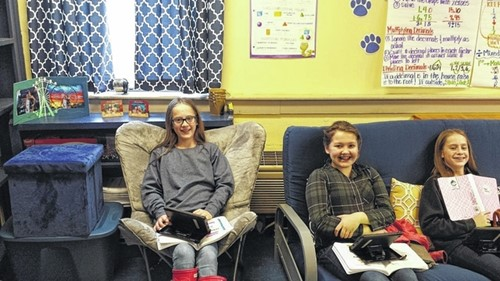 Students Try Flexible Seating At Hms Hazard Middle School